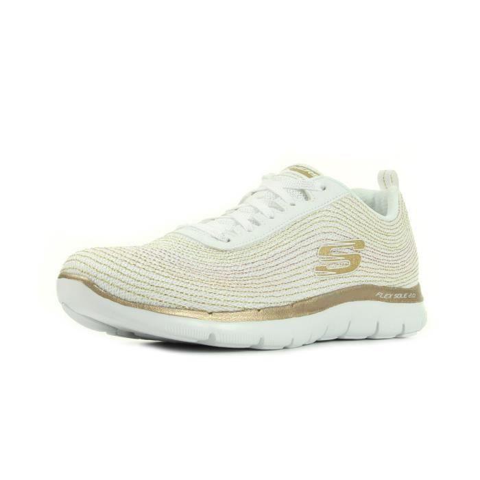 Chaussures Skechers doré • – meilleurs prix•