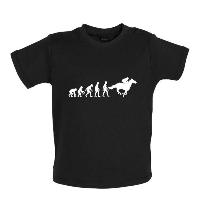 Evolution de l'homme Équitation - T-shirt bébé