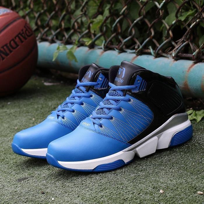 Bottes pour Mixtenoir - bleu 9.5 Haut Haut Bas épais de basket-ball masculin_16279