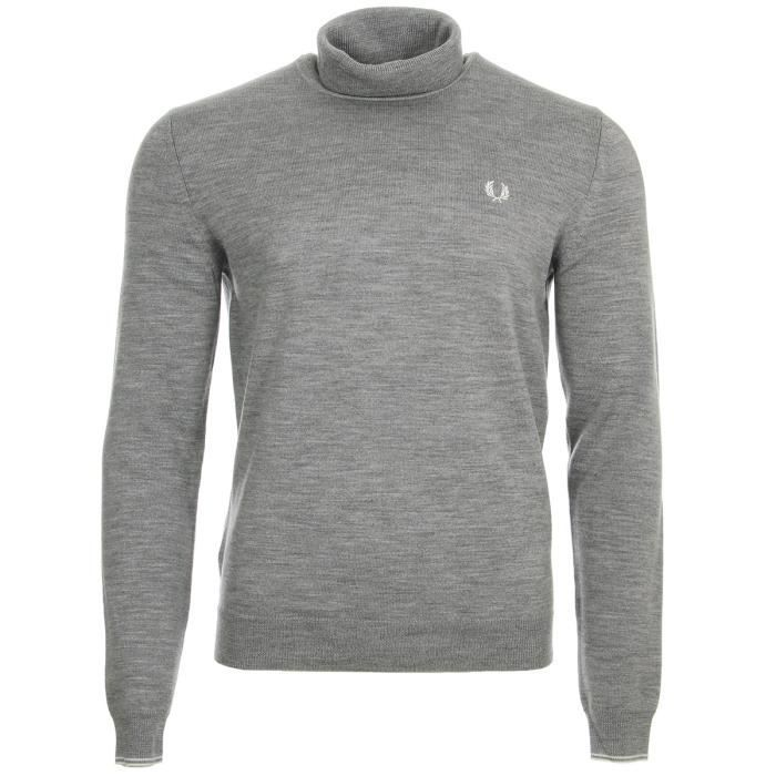 Classic Achat Vente Merino Roll Neck Fred Gris Pull Perry q0wzzE