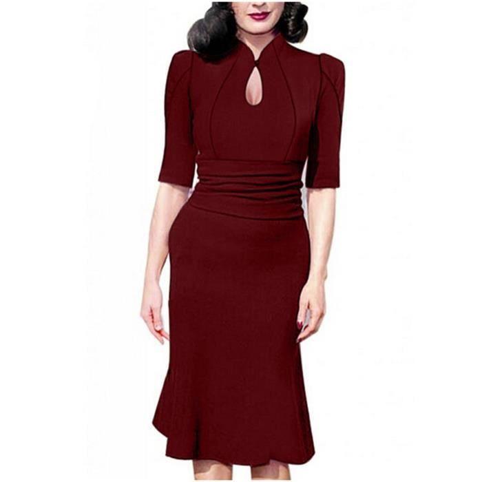 Craze womens cou cordon robe de réservoir de base ronde taille moulante avec des poches Y4G5D
