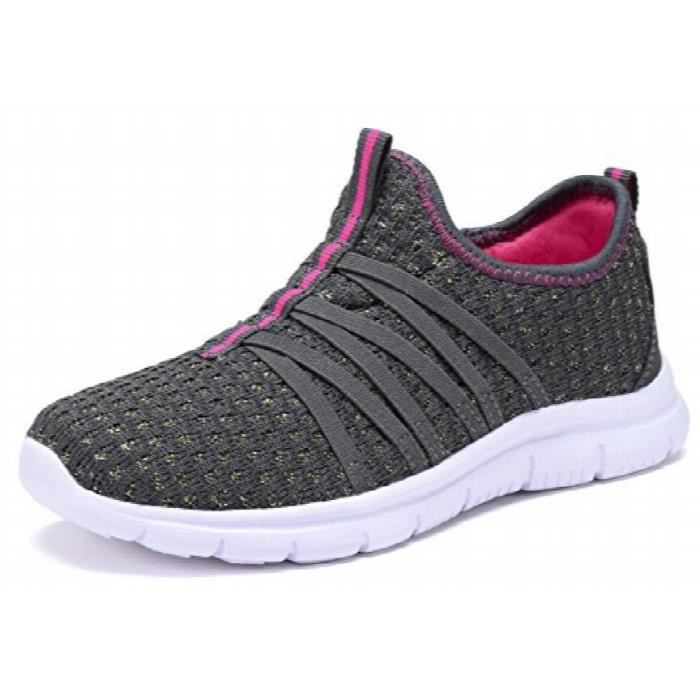 Kids Girls Athletic Sneakers Casual Slip-on Sport Shoes YAQK2 Taille-1