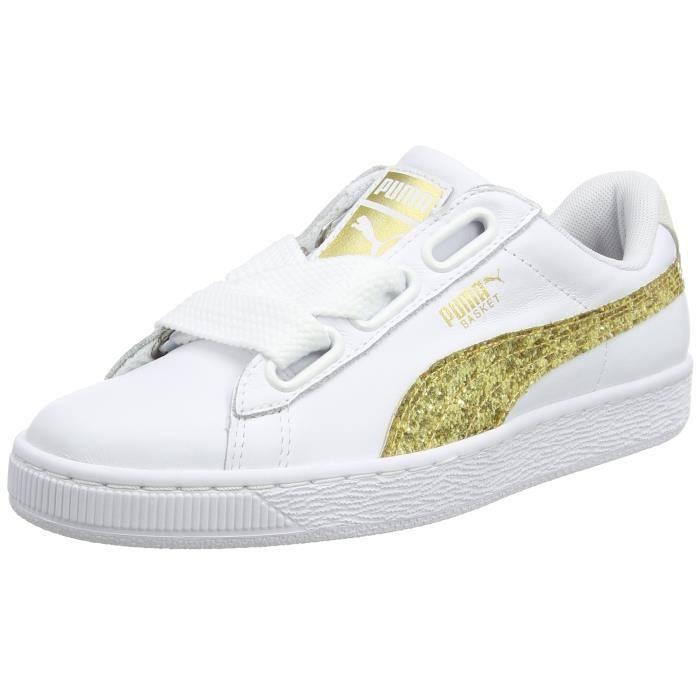 puma blanc et or