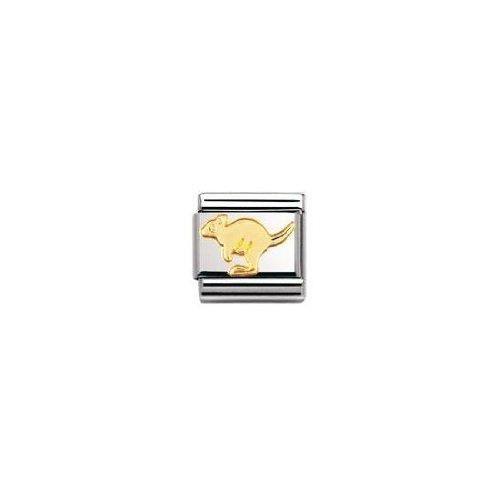 Nomination 030112 - Maillon Pour Bracelet Composable Mixte - Acier Inoxydable Et Or Jaune 18 Cts E7Z41
