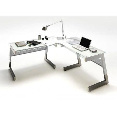Bureau dangle design avec plateau en verre tra Achat Vente