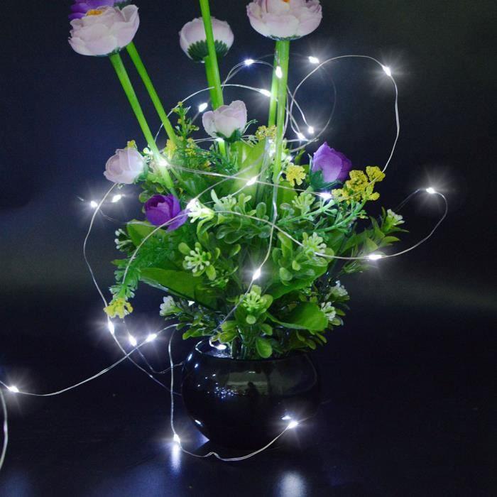 Solaire À 12 Mètres Lampe De Décoration 100led Fil Énergie 016si Jardin Cuivre 8vx78Rqn