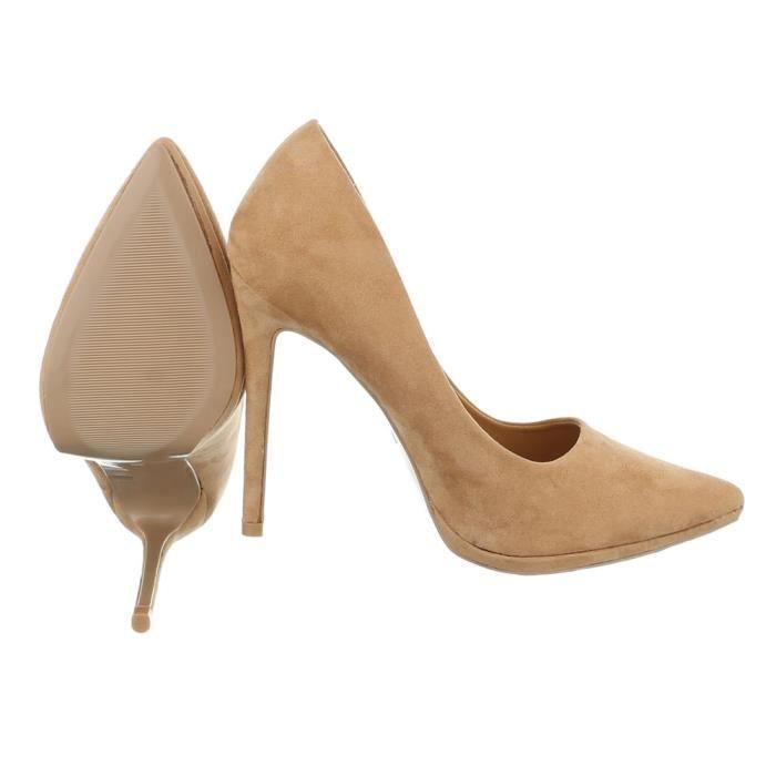 Femme chaussures escarpin High Heels Apricot 40