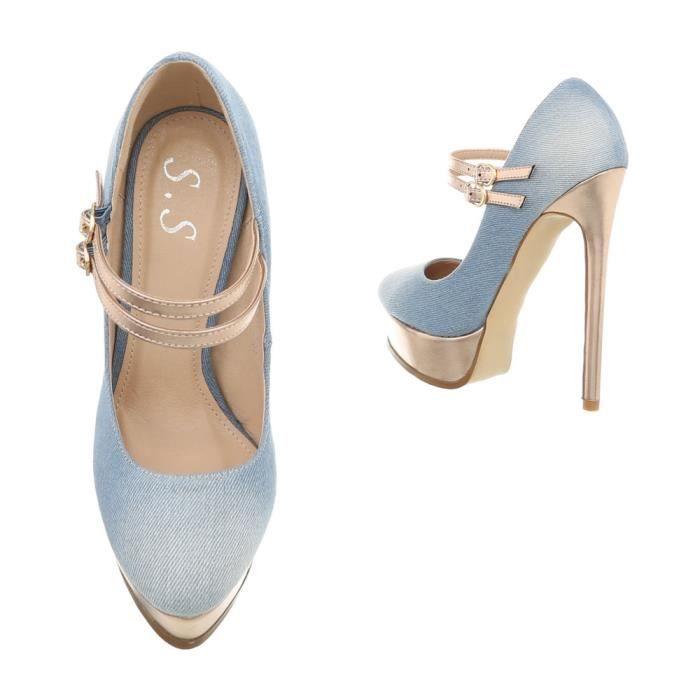 138330da1b701f Chaussures Bleu Clair 35 Plateau Aiguilles Talons Femme L'escarpin rqwXYrP