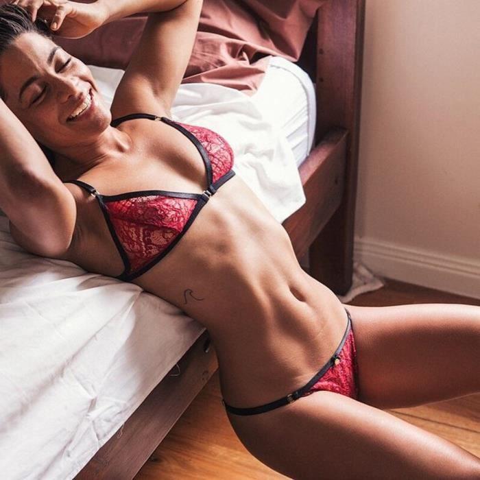 Sous vêtements gorge Corset Pants Xxxl Rouge Soutien Lingerie Femmes Up Push Sexy Dentelle Set qtXPZwvg