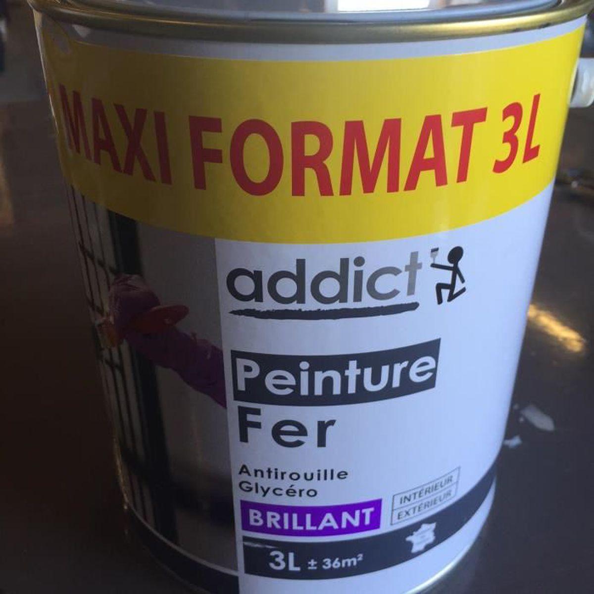 PEINTURE   VERNIS Peinture Glycero Special Fer Antirouille BLANC 3 L