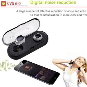 CASQUE - ÉCOUTEURS Mini jumelles sans fil Bluetooth 4,2 oreillette st