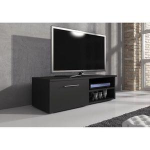 MEUBLE TV Meuble tv 120 cm MDF noir mat