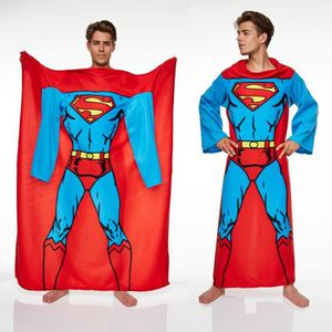 COUVERTURE - PLAID Couverture Polaire à Manches Superman