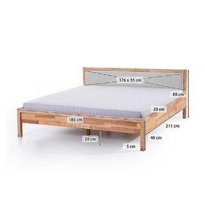 lit design 180x200 cm achat vente pas cher. Black Bedroom Furniture Sets. Home Design Ideas