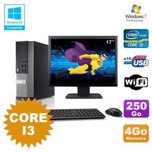 UNITÉ CENTRALE + ÉCRAN Lot PC Dell Optiplex 7010 SFF Core I3 3.1GHz 4Go 2