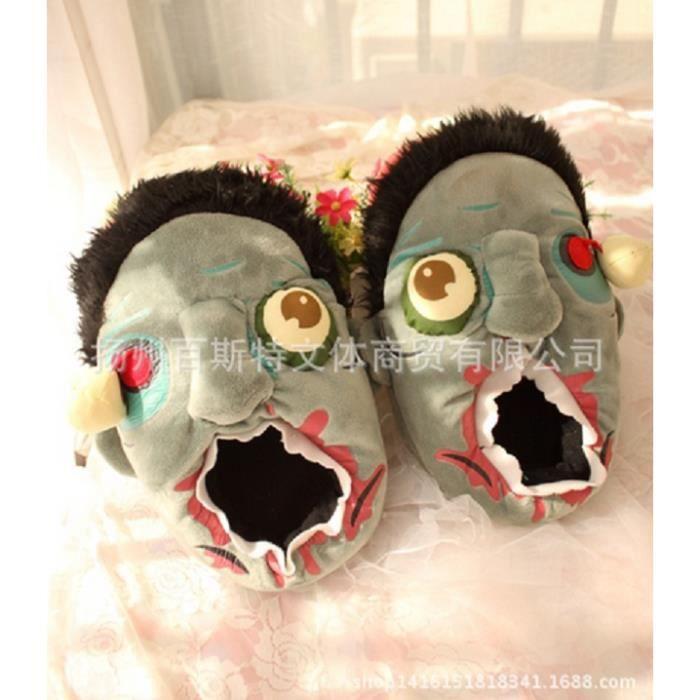 2016 Nouveau Une paire Cartoon Chaussures couple Peluche pantoufles en coton mXQNfznJ