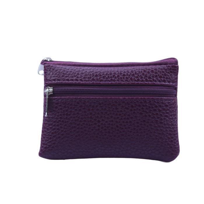 Cuir Portefeuille Violet Multi En Homme Dedasing® Glissière Coin Card port4948 Femme Fonctionnelle xOwvnt