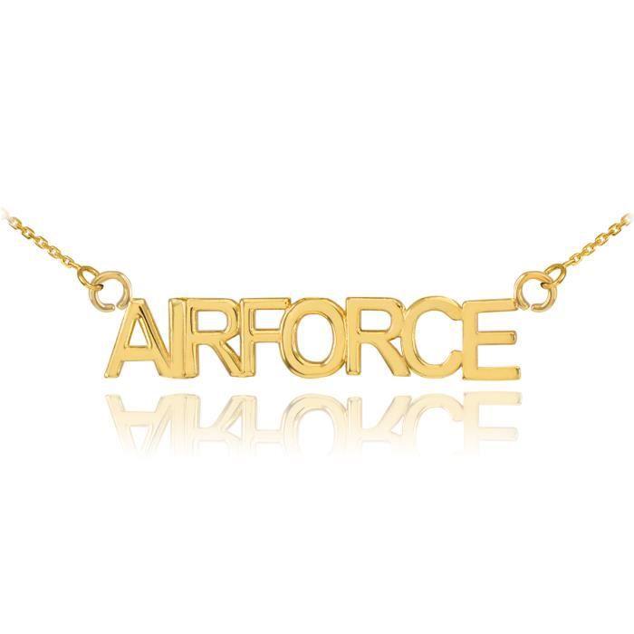 Pendentif 14 ct 585/1000en or AIR FORCE