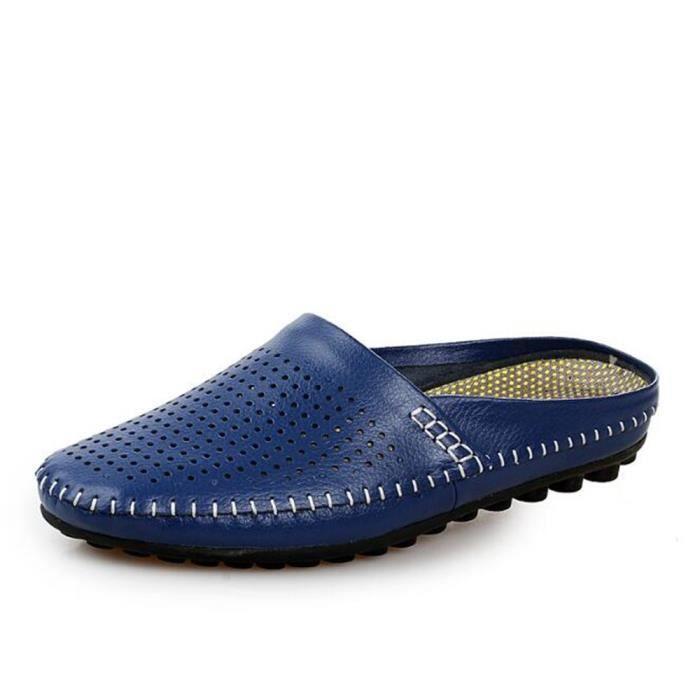 chaussures homme Pantoufle Marque De Luxe Moccasin hommes Grande