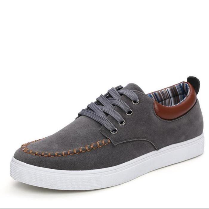 Chaussure Homme Classique Étudiant En Occasionnels Qualité Mode Style Supérieure Marque Daim 43 Patchwork Mocassins Cuir Taille TTwFrdaqx