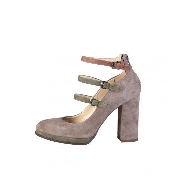 Taupe Talon Made Chaussures En Filomena hauteur Cuir 10cm In Italie qwBBPY0 29ecb1e014c3