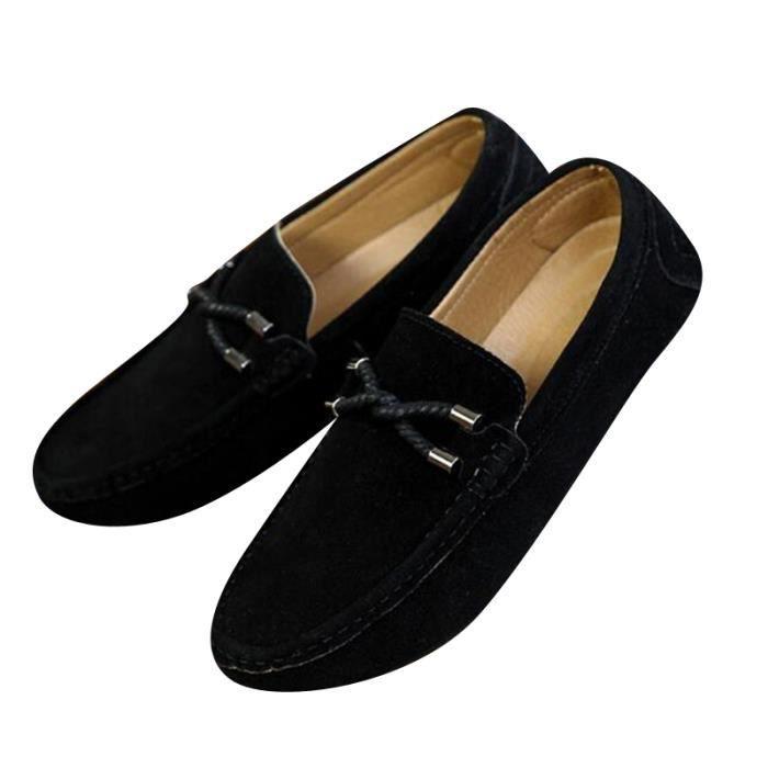 Mocassins Hommes Printemps Ete Leger Mode Chaussures XFP-XZ077Noir40 HCloTS