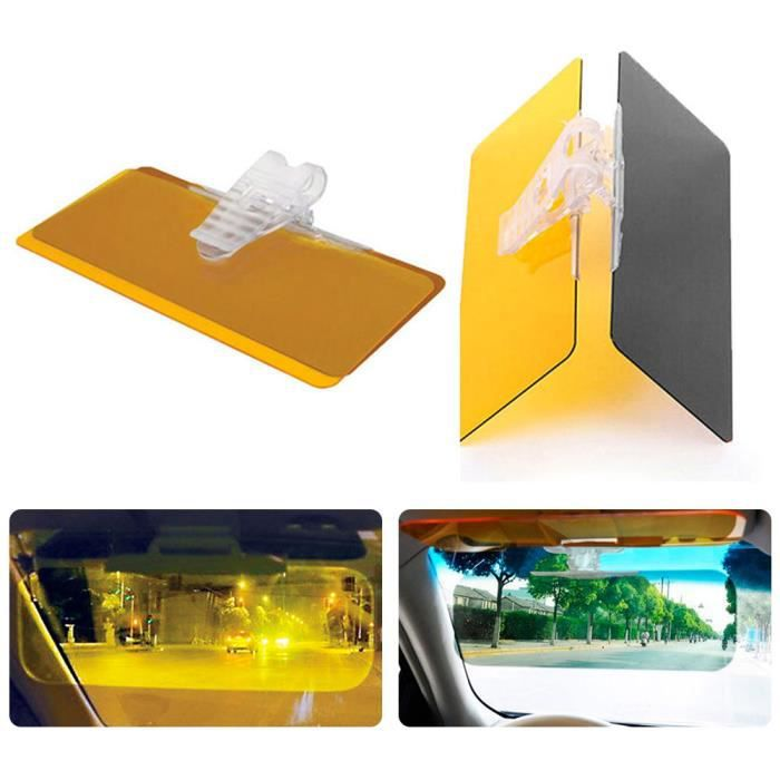 Rallonge pare-brise de voiture anti-reflets HD pare-soleil vue claire jour et nuit anti-UV anti-/éblouissement pare-soleil universel