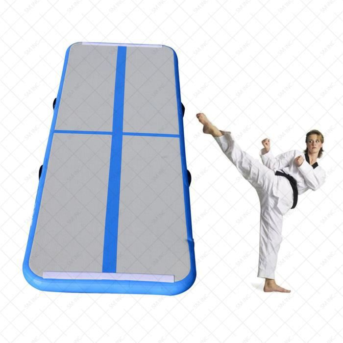 Gonflable Tapis Gymnastique Air Gym Tumbling Track Yoga D