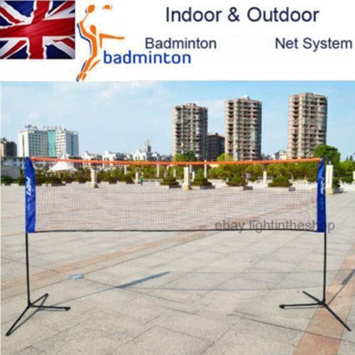 3M Filet de Badminton pliable Cadre Support réseau tennis Intérieur Sports de plein air - XY FR