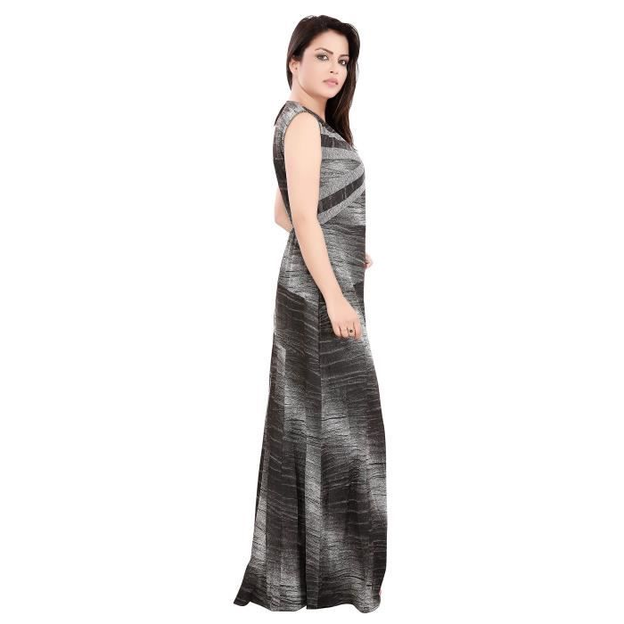 Carrel Womens Stretchable Lycra Fabric Long Dress(agspl-3596) G6V3D Taille-M