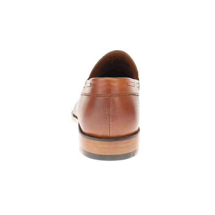 Mens Slip-on Robe Penny en cuir pleine Mocassins Chaussures Sl308 UJVG5 QALYxzR