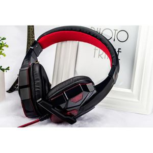 CASQUE AVEC MICROPHONE Stéreo Gaming Headset Casque 3,5 mm avec micro Ban