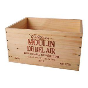 COFFRET CADEAU VIN La Caisse Bois 6x75cl estampillé Château Moulin de