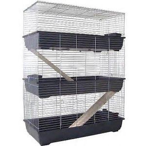 CAGE Cage Pour Rongeurs à 3 Etages 100cm Pour Lapins Ou