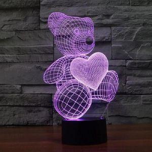Achat Cher Ours 3d Lampe Vente Pas SMVpUz