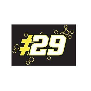 DRAPEAU DÉCORATIF Drapeau Andrea Lannone - Noir - MotoGP