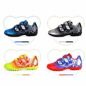 cdfe8385858e5 Chaussures de football pour enfants Chaussures d'entraînement pour garçons  et filles Les élèves baskets velcro taille 28-37