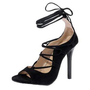 39€99  Femme Orteil Ouvert Talon Haut Sandales Cheville Sangle Pointu Escarpins  Chaussures Talon Haut Escarpins Sandals f2f78e44389a