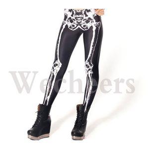 LEGGING pantalon Femmes Leggings squelette Muscle Sexy Yog 7f8466fbad0