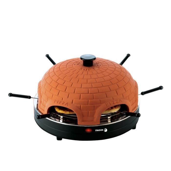 FAGOR FG394 Four à pizza avec dome en terre cuite - Noir