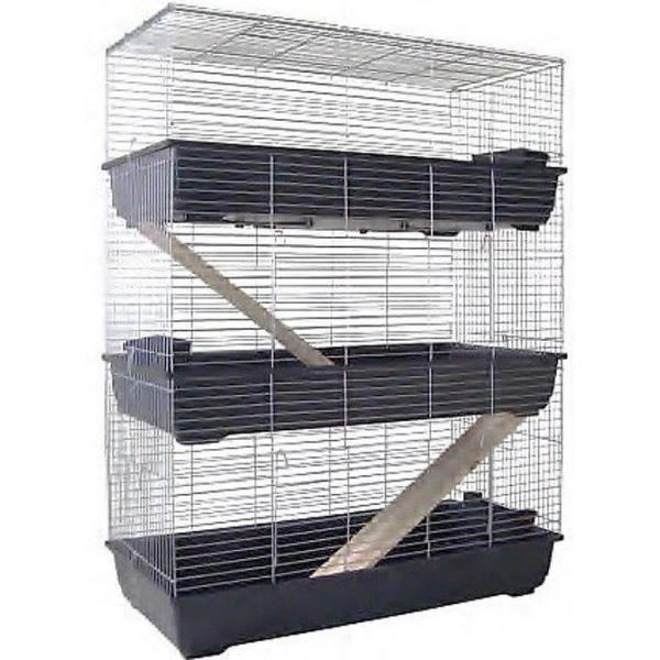Cage pour rongeurs 3 etages 100cm pour lapins ou achat for Cage exterieur pour lapin