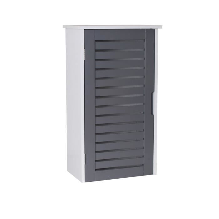 Meuble haut salle de bain bois gris - Achat / Vente armoire de ...