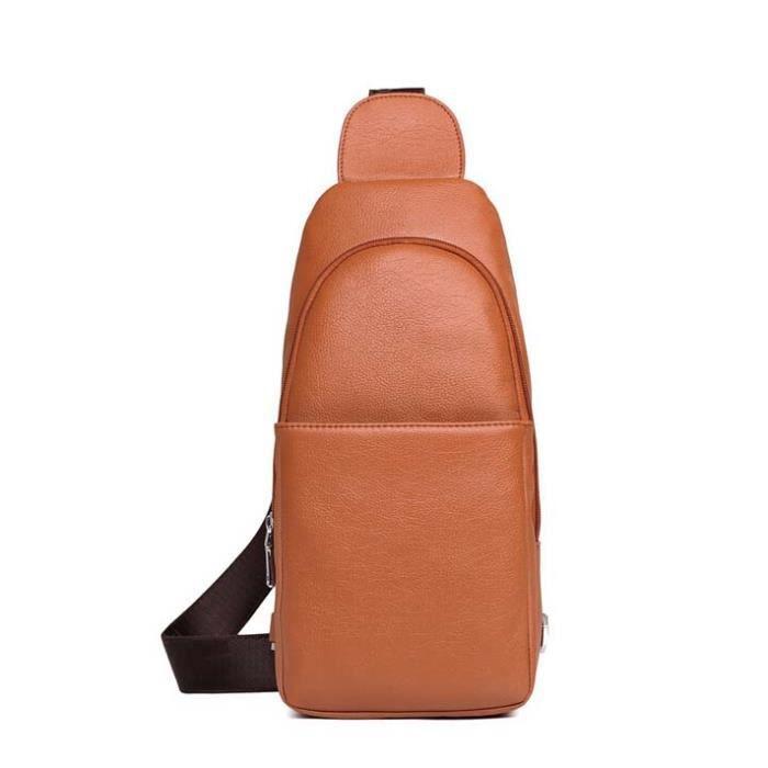 04349a1c11 Sac Sacoche Bandouliere pour Homme Orange Orange - Achat / Vente ...