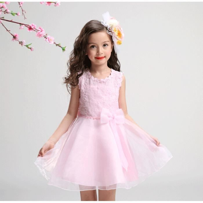 Fille de dentelle pour enfants robe à manches longues jupe poncho ressort et été nouvelle robe de princesse princesse