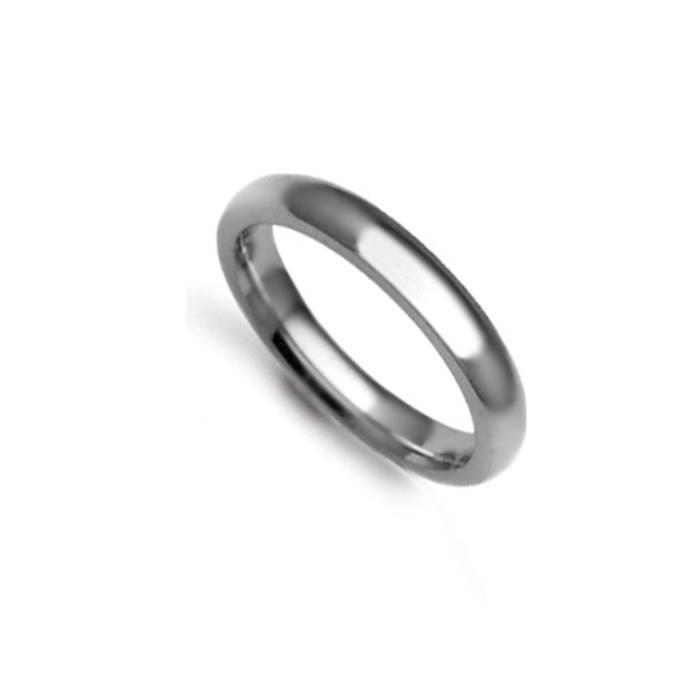Jewelco Londres anneau de mariage à la main 9K or blanc tribunal 3mm