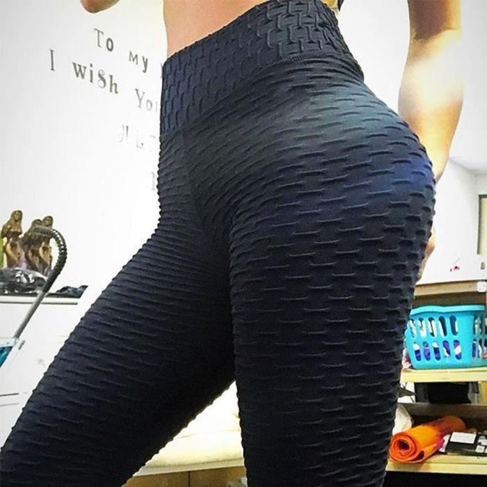 LEGGING DE COMPRESSION Legging pour Femme Pantalon de Yoga Gym Taille Hau