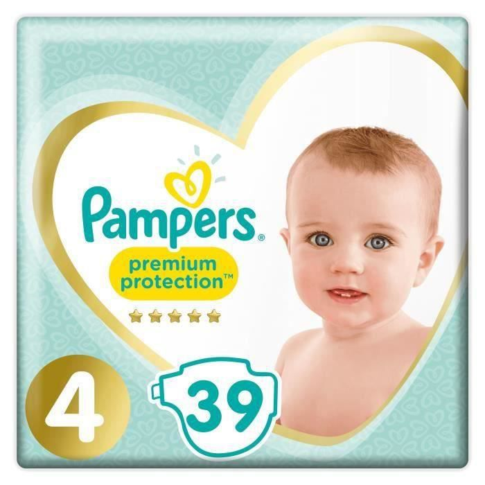 COUCHE PAMPERS Premium Protection Taille 4 9-14 kg - 39 C