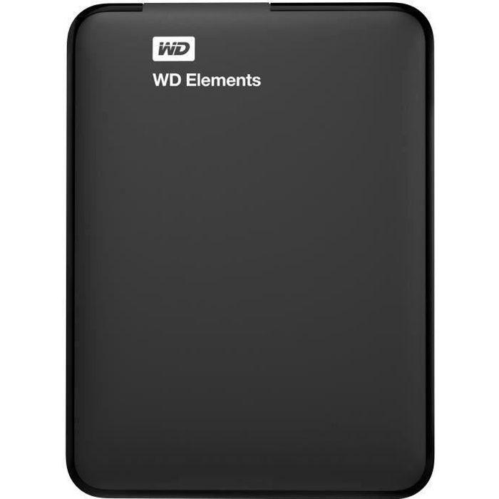 DISQUE DUR EXTERNE WD - Disque Dur Externe - Elements Portable - 1To