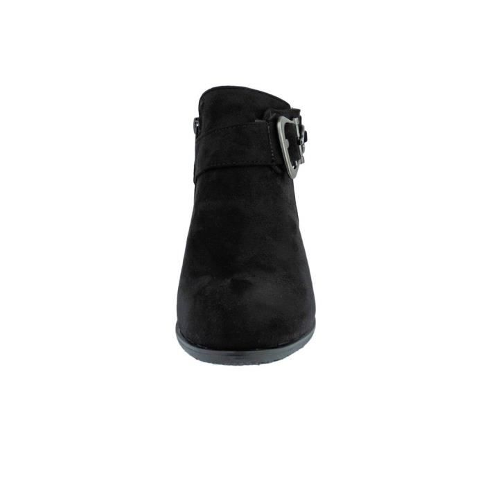 Ankle Boot Zoey-8 Vegan Leather Bit Ornament Embellished Strap Ankle Bootie Boots XLC6F Taille-39 cpNBM