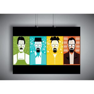 AFFICHE - POSTER Poster BREAKING BAD WALTER WHITE Wall Art V2 - A4